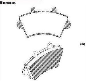 Pastilha de Freio Renault Master 1.9 Tdi / 2.5 Dci / 2.8 D/ Dti / 2002 / 2012 Dianteira - CSP449