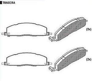 Pastilha de Freio Dodge Ram 2500 Tropivan 5.9 Slttdi 09 / - CSP621