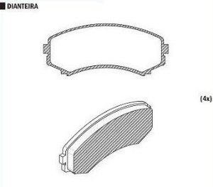 Pastilha de Freio Mitsubishi Pajero Full 02 / Monteiro 01 / 05 / Mazda Mpv 2.6I / 3.0 I 92 / 99 - CSP808