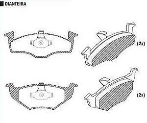 Pastilha de Freio Audi A3 1.6 / 1.8 96 / 98 Sistema Girling / Cordoba 1.6 / 1.8 / Toledo 95 / - CSP820