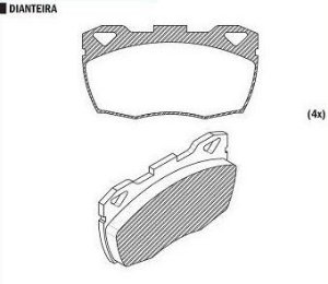 Pastilha de Freio Land Rover Defender 90 / 110 / 130 93 / 00 / Land Rover Defender 2.5 Tdi 85 / ... - CSP866