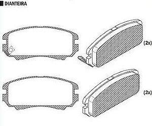 Pastilha de Freio Sonata 2.0 Gls / 2.7 V6 01 / Sonata 3.3 V6 05 / Tucson 2.0 / 2.7 2004 / Candeza 2011 / - CSP895