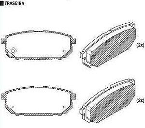 Pastilha de Freio Sorento 2.4 / 3.3 / 3.5 V6 2002 / 2009 ( Traseiro ) / Sistema Mando - CSP903