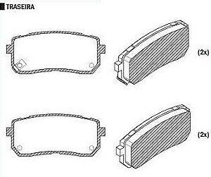 Pastilha de Freio Vera Cruz 3.8 V6 2007 / Carnival 2.7 V6 2006 / Sistema Mando ( Traseiro ) - CSP889