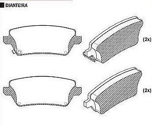 Pastilha de Freio Toyota Corolla 1.6 / 1.8 / 2.0 2002 / 2008 Trw / Corolla Fielder 1.8 2004 / 2008 - CSP1319