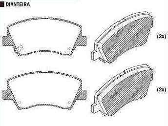 Pastilha de Freio Hb20 1.6 12 / I30 1.6 / 1.8 2013 / Veloster 1.6 2012 / New Cerato 1.6 13 / Santa Fe 13 / - CSP3000