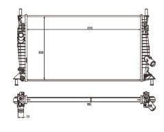Radiador Focus 1.6 / 2.0 16V ( 09 - 13 ) ( Nt - 2299.116 ) com Ar / Mecanico Tec. Ab - CFB2299122