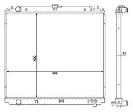Radiador Frontier 2.5 TD ( 08 > ) / Pathfinder 4.0 L4 ( 05 > ) com Ar / Automatico / Manual / Aluminio Brasado - CFB20305132