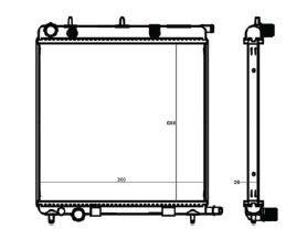 Radiador C3 1.4 / 1.6 16V / 1.8 ( 03 > ) com / sem Ar / Manual / Aluminio Brasado - CFB3374126
