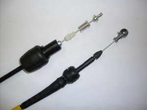 Cabo do Acelerador Corsa 1.0 / 1.4 / 1.6 MPFI 8V / Pick Up 1.6 MPFI 98 ... Corsa 1.0 / 1.4 / 1.6 MPFI 96 ... 97 765mm - CCB151167