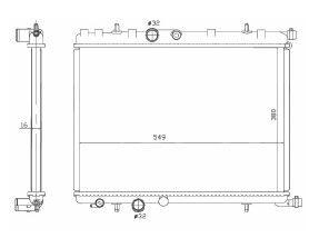 Radiador 206 1.0 / 1.4 / 1.6 16V com / sem Ar ( 99 > ) / 207 1.4 8V / 1.6 16V com / sem Ar ( 09 > ) / 307 1.6 / 2.0 16V com Ar ( 02 - 05 ) Unificado / Manual / Aluminio Brasado - CFB7140116