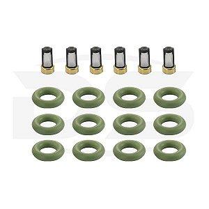 Kit para Uso Interno do Bico Injetor Multi Point Sistema Bosch Rochester Omega 3.0 6CC 12V / Omega 4.1 6CC 12V - CDA1206