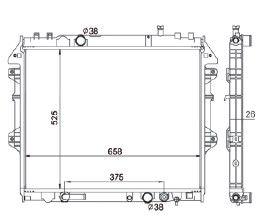 Radiador Hillux 2.5 / 3.0 Diesel ( 06 > ) com / sem Ar / Automatico / Manual / Aluminio Brasado - CFB20009126