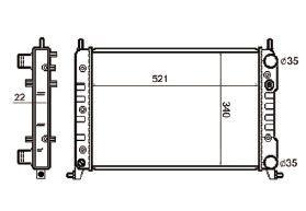 Radiador Palio / Siena / Strada 1.6 / 1.6 16V ( 96 > ) com Ar / Manual / Aluminio Brasado - CFB3594122
