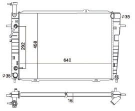 Radiador Sportage 2.7 V6 ( 05 - 09 ) com / sem Ar / Automatico / Manual / Aluminio Brasado - CFB2785116