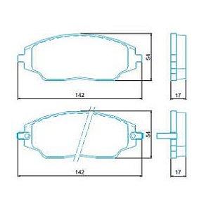 Pastilha de Freio Dianteira Cobalt LT / LTZ 1.8 8V com ABS 12 / ... Spin LT / LTZ 1.8 com ABS 12 / … com Alarme ( Jurid ) - CHQJ2299A