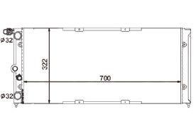 Radiador Santana / Quantum 1.8 / 2.0 ( Todos ) Universal com Ar / Automatico / Manual / Aluminio Mecanico - CFB7065534