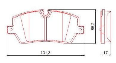 Pastilha de Freio Traseira Range Rover IV 12 / ... Range Rover Sport 13 / ... sem Alarme com Anti Ruido ( Ferodo ) - CHQF4133C