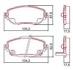 Pastilha de Freio Dianteira Corolla 1.8 XLI / 2.0 Altis / 2.0 com Alarme com Anti Ruido ( Ferodo ) - CHQF2325AC