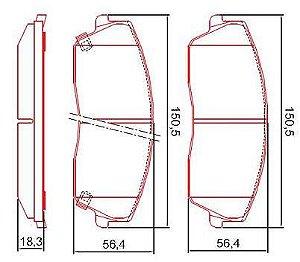 Pastilha de Freio Dianteira 300C V6 - 2.7L 05 / 08 300C V6 - 3.5L com Alarme com Anti Ruido ( Ferodo ) - CHQF4010AC