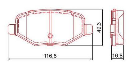 Pastilha de Freio Traseira Edge 3.5L V6 11 / ... sem Alarme ( Ferodo ) - CHQF2360