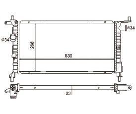 Radiador Corsa 1.0 / 1.4 / 1.6 ( 94 - 02 ) sem Ar / Manual / Aluminio Mecanico - CFB5664523