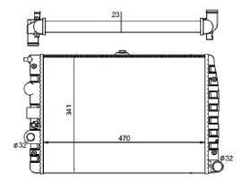 Radiador Gol / Parati / Saveiro 1.0 / 1.6 / 1.8 / 2.0 / 2.0 16V ( 95 - 08 ) G2 / G3 / G4 sem Ar / Manual / Aluminio Mecanico - CFB7061523