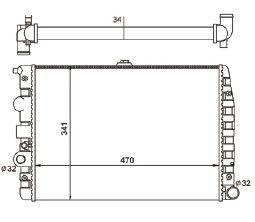 Radiador Gol / Parati / Saveiro 1.0 / 1.6 / 1.8 / 2.0 / 2.0 16V ( 95 - 08 ) G2 / G3 / G4 com Ar / Manual / Aluminio Mecanico - CFB7062534