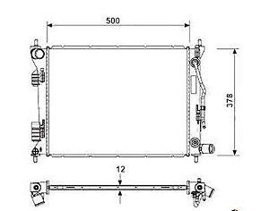 Radiador HB20 / HB20X / HB20S 1.6 16V ( 12 > ) com Ar / Automatico / Manual / Aluminio Brasado - CFB20071116