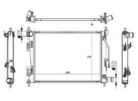 Radiador Veloster 1.6 16V ( 11 > ) com Ar / Automatico / Manual / Aluminio Brasado - CFB20071112