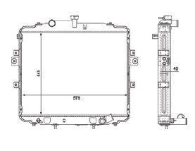 Radiador Hr 2.5 D / TD ( 06 > ) com / sem Ar / Manual / Aluminio Brasado - CFB21057142