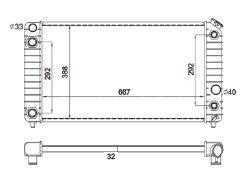 Radiador S10 / Blazer 4.3 V6 ( 94 > ) com / sem Ar / Automatico / Manual / Aluminio Brasado - CFB1826132