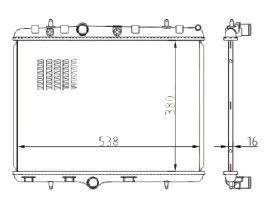 Radiador C3 Novo / Aircross 1.5 8V / 1.6 16V ( 10 > ) com Ar / Automatico / Manual / Aluminio Brasado - CFB3376116