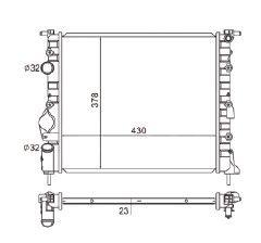 Radiador Clio 1.0 / 1.6 ( 99 > ) Unificado sem Ar / Manual / Aluminio Mecanico - CFB4700523