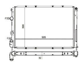 Radiador Scenic / Megane 1.6 / 2.0 ( 95 - 98 ) com / sem Ar / Manual / Aluminio Brasado - CFB4742132