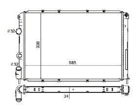 Radiador Scenic / Megane 1.6 / 2.0 ( 95 - 98 ) sem Ar / Manual / Aluminio Mecanico - CFB4742534