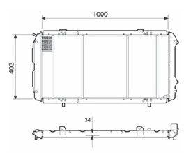 Radiador Ducato 2.5 D / TD / 2.8 D / TD ( > 01 ) com Ar / Manual / Aluminio Brasado - CFB22207534