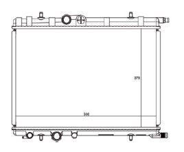 Radiador C3 1.4 / 1.6 16V ( 03 > ) com / sem Ar / Automatico / Manual / Aluminio Brasado - CFB3375126
