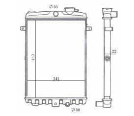 Radiador Gol / Passat / Voyage 1.6 / 1.8 ( > 86 ) sem Ar / Manual / Aluminio Mecanico - CFB7042523
