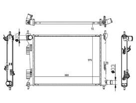 Radiador HB20 / HB20X / HB20S 1.0 12V ( 12 > ) ( Original Corea ) com / sem Ar / Manual / Aluminio Brasado - CFB20070112