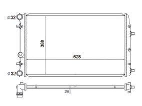 Radiador Polo 2.0 ( 03 - 05 ) com / sem Ar / Manual / Aluminio Brasado - CFB5183126