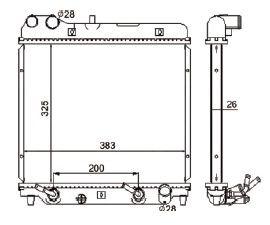 Radiador Fit 1.4 / 1.5 16V ( 03 - 08 ) com Ar / Automatico / Manual / Aluminio Brasado - CFB4785126