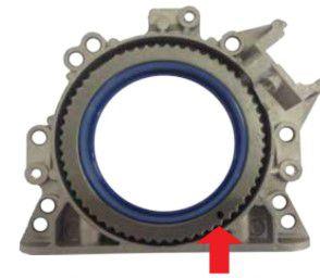 Retentor Traseiro com Roda de Impulso com Flange Gol Power 1.0 8 / 16V Gol / Parati - CSS460053T