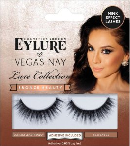 Cílios Postiços Eylure Vegas Nay Luxe Collection Bronze Beauty - 1 Par
