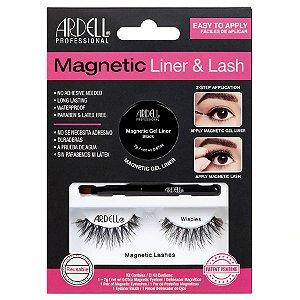 Cílios Magnéticos Ardell Magnetic Liner & Lash Kit Wispies
