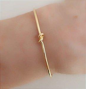 Bracelete de Nó banhado à Ouro 18k