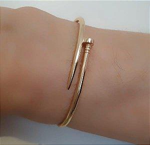 Bracelete Aberto de Prego banhado à Ouro 18k