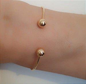Bracelete Aberto de Bolinhas