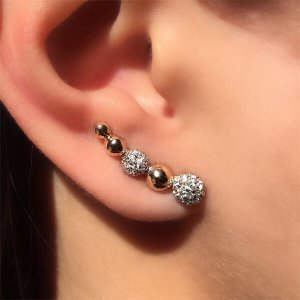 Ear Cuff Esfera Cravejada