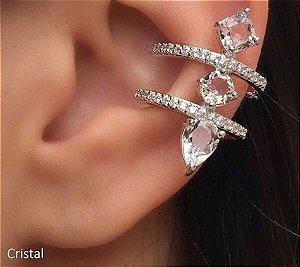 Piercing Fake Triplo Pedras